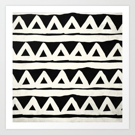 Tribal Chevron Stripes Art Print