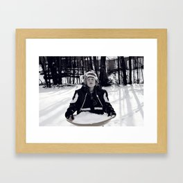 Heaps of Snow Framed Art Print