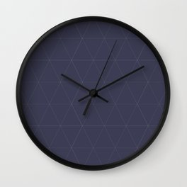 Classic | Blue Triangles Wall Clock