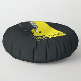 The One Who Knocks Floor Pillow