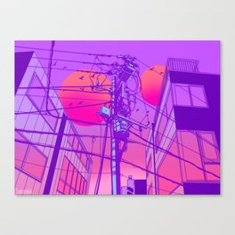 Anime Wires Canvas Print