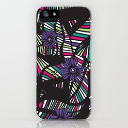 Lined Art Floral iPhone Case