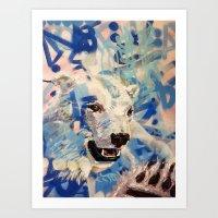 polar bear Art Prints featuring Polar Bear by Michael Hammond