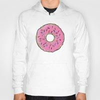 doughnut Hoodies featuring Doughnut by Sara Eshak