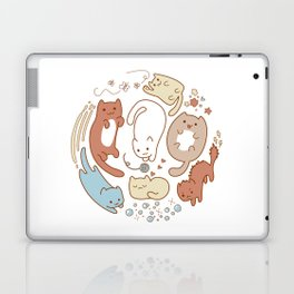 Seven cute cats. Laptop & iPad Skin