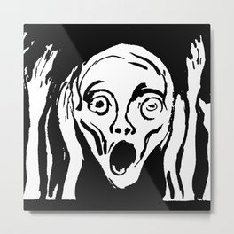 "Edvard Munch ""The Scream""(undated drawing) Metal Print"