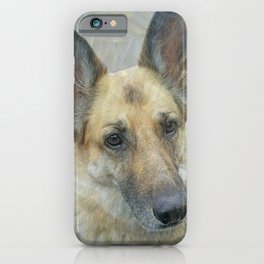 Unconditional Love Holly German Shepard iPhone Case
