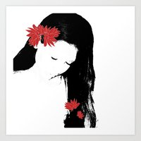 girly Art Prints featuring girly by annemiek groenhout