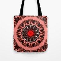 valentine Tote Bags featuring Valentine by Mr. Pattern Man