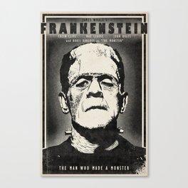 Frankenstein (B&W) Canvas Print