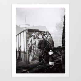 Brik Lane Bikes Art Print