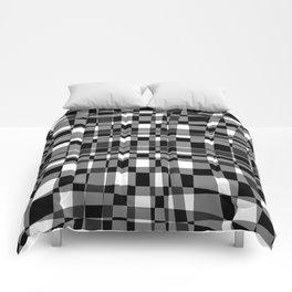 warped plaid Comforters