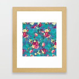 Flowers & Birds II Framed Art Print