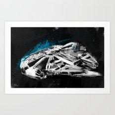 Millennium Falcon Art Print