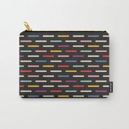 Modern Scandinavian Dash Multi Colour Color Black Carry-All Pouch
