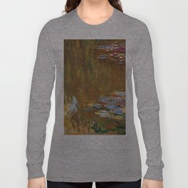 1917-Claude Monet-The Water Lily Pond Long Sleeve T-shirt