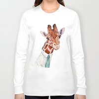 toddler Long Sleeve T-shirts featuring Mr Giraffe by Animal Crew