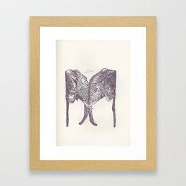 BALLPEN ELEPHANT 10 Framed Art Print