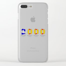 2000 - NAVY - My Year of Birth Clear iPhone Case
