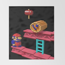 Inside Donkey Kong Throw Blanket