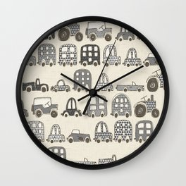 retro rides mono Wall Clock