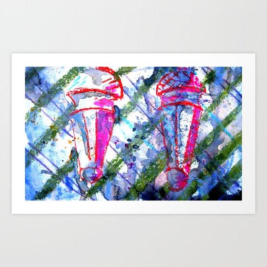 2 ice cream  Art Print