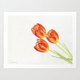 Tulips Watercolor Art Print