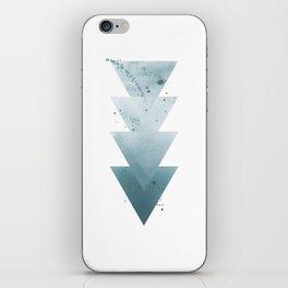 Blue Triangles. iPhone Skin