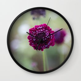 Purple Pincushion Wall Clock