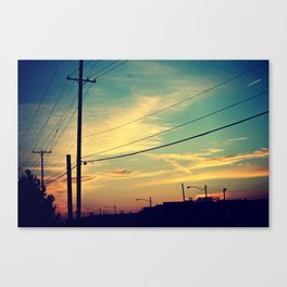 let us paint the sky Canvas Print
