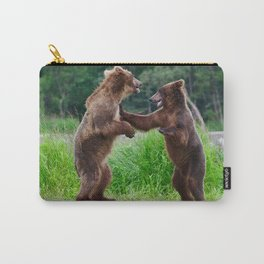 Siblings at Play Carry-All Pouch