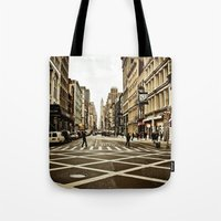 broadway Tote Bags featuring Broadway by Randolph Pfaff