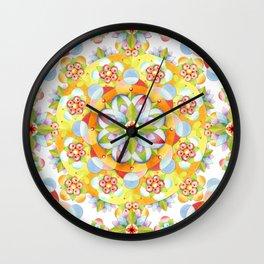 Flower Garden Mandala Wall Clock