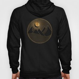 Golden Sunset Landscape with Mountains Hoody