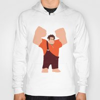 wreck it ralph Hoodies featuring Wreck-It Ralph by George Hatzis
