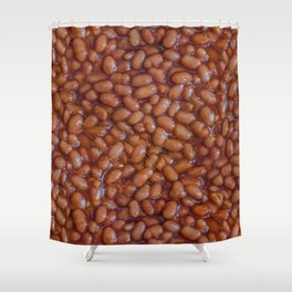 Baked Beans Pattern Shower Curtain