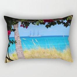 Turks & Caicos Sailboat Rectangular Pillow