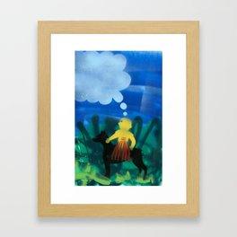 Dog Boy Framed Art Print