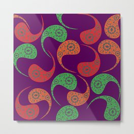 Cool Paisley Metal Print