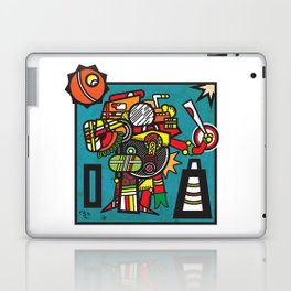Humble Witch Doctor - Aztec / MesoAmerican Abstract Illustration Laptop & iPad Skin