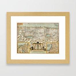 Map Of Israel 1660 Framed Art Print