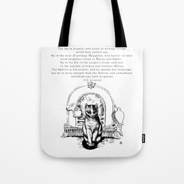 The Cat is Cryptic Tote Bag