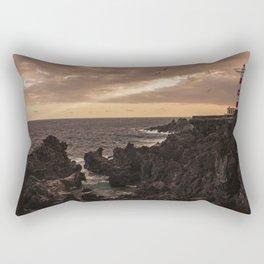 The Lighthouse guarding the coast. Rectangular Pillow