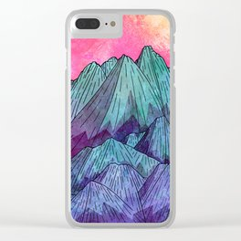 Sunset Sky Mounts Clear iPhone Case