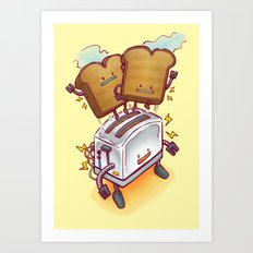 The ToasterBot Art Print