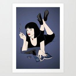 Pulp Erotic Fiction Art Print