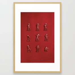How many people? Framed Art Print