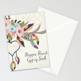 Hippie Heart , Gypsy Soul , Dream Catcher Stationery Cards
