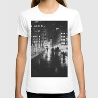 new york city T-shirts featuring New York City Noir by Vivienne Gucwa
