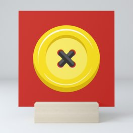 Button Up! Red Mini Art Print